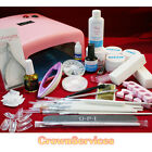 UV Lamp Gel Polish Dryer Light Nail Art Kit Set Kit Gem Glue ab diamante (Set B)