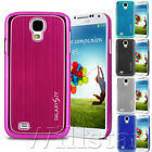 BRUSHED ALUMINIUM CASE COVER FOR SAMSUNG GALAXY S4 I9500 FREE SCREEN PROTECTOR
