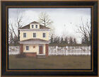 WHITE PICKET FENCE by Billy Jacobs FRAMED ART PRINT 15x19 House Country PICTURE