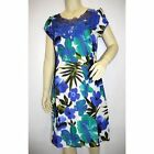 NEW LADIES EX BODEN BLUE FLORAL PRINT SHIFT TUNIC DRESS WORK OFFICE CASUAL 8-18