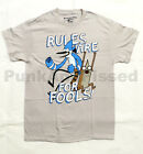 Regular Show - Rule Fool - mens silver grey t-shirt - Official - FAST SHIP