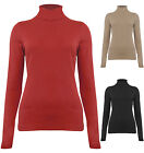 Womens Brave Soul Polo Neck Cotton Jumper Top Black Red New Size UK 8-14