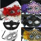 Unisex Venetian Charm Lace Party Ball Masquerade Eye Masks With Paillette Flower