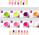 Gel uv couleur néon 5 ml nail art ongles french manucure kit uv fluo rose, jaune