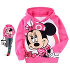 Girls Kids Minnie Mouse Cartoon Hooded Shirt 2-7T Tops Coat Sportswear Clothing