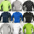 Mens Compression Body skin Armour Long sleeve shirts sports Top base under layer