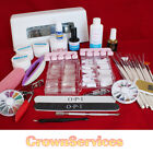 Nail Art Kit/Tips Acrylic UV Gel Lamp Glue File Brush Primer Tools (9wC)