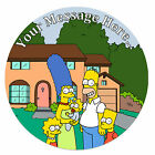 The Simpsons Personalised Edible Rice/Icing Cake Topper 7.5 inch Circle