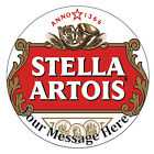 Stella Artois Logo Personalised Edible Rice/Icing Cake Topper 7.5 inch Circle