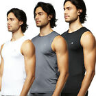 Mens Thermal Compression Sleeveless Sports Shirts Base Layer Underwear skin Top