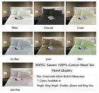 New Luxurious 300TC Hotel Quality 100% Cotton Sateen Sheet Set in All Sizes