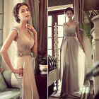 New Wedding Bridesmaids Party Gown Prom Ball Evening cocktail Bridal Long Dress