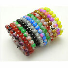 Wholesale Lots Mixed Color Stretch Beaded Beads Charm Bracelet Jewelry 10 Colors