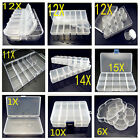 Multi style DIY Transparent Storage Case Box Clear Beads Display Jewelry Boxes