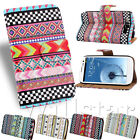 AZTEC TRIBAL PATTERN LEATHER FLIP WALLET CASE COVER FOR SAMSUNG GALAXY S3 I9300