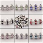 Wholesale Crystal Stopper Clip/Lock Bead Charms Fit European Bracelets 10 Colors