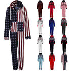 Women's All In One Aztec Hooded Adult Jumpsuit Ladies Playsuit Suit 8-14