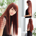 New Fashion Women Lady Long Straight Hair Full Wig Wigs Cosplay Party 3 Colors