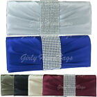 Royal Blue Burgundy Diamante Satin Evening Clutch Bag Party Wedding Silver Red