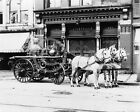 1911 YORK PA HORSE DRAWN FIRE ENGINE PHOTO HISTORICAL Largest Sizes