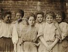 1909 GEORGIA COTTON MILL GIRLS CHILD LABOR PHOTO HINE HISTORICAL