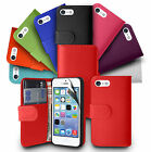 Leather Wallet Pouch Flip Case Cover Screen Protector For APPLE iPhone 5S