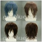 TT-1001 Fashion Heat Resistant Short Straight Cosplay wigs 3  Colors