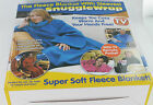 PMS ADULTS SNUGGLE WRAP FLEECE BLANKET WITH SLEEVES IN FOUR COLOURS 074/448