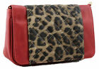 New Red Leopard Print Animal Faux Leather Satchel Quilted Messenger Womens Bag