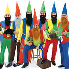*Mens Adult Fairytale Panto Garden Gnome Dwarf Stag Fancy Dress Costume Outfit*
