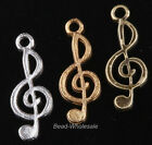10pcs Tibetan Silver Music Notation Pendant for Jewelry Making