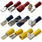 Red Blue Yellow Spade Connector Crimp Terminal Female Male Fully Insulated Piggy