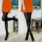 Spandex Two Tone Sheer Opaque Mesh Floral Lace Pantyhose Tights Stockings Slim