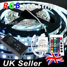 1M 2M 3M 4M 5M 5050 IP20 RGB SMD LED Strip + 24 Keys IR Remote Controller + PSU
