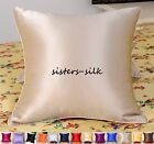 "1 PC 19MM 100% SILK EURO PILLOWCASE THROW PILLOW CASE CUSHION COVER SIZE 22""x22"""