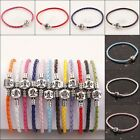 WHOLESALE MIXED LOVE CLASP LEATHER CHARMS BRACELETS FIT EUROPEAN BEADS 12 COLOR