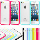Clear Back Silicone TPU Bumper Case Cover For iPhone 5 5S FREE Screen Protector