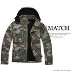 Matchic Mens Winter Coat Military Camo Hoody 100%Cotton Jackets Thick Outerwear