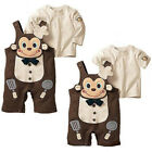 Baby Kid Toddler Boy Girl Monkey Onesie Bodysuit Romper Outfit Overall One-Piece