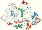 Ceramic Decals Holiday Christmas Musical Geese Goose Holly Music Book image