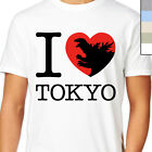 GODZILLA I LOVE TOKYO T-Shirt. Cult Movie, Retro Vintage Monster, Funny Heart NY