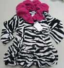 MACK & CO Coat JACKET Fleece ZEBRA Black WHITE Pink SIZES 2T and 4T NEW w/TAG