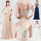 Long Sequins and lace embellished Evening Party Formal Ball Gown Prom Maxi Dress