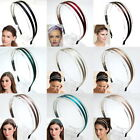 CELEB DOUBLE HAIRBAND HEADBAND 2 LINED HAIR ACCESSORIES GOSSIP GIRL Choose