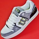 NEW Men's White/Green WORLD INDUSTRIES MONARCH Leather Athletic Sneakers Shoes