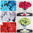 28 Silk Hydrangea Wedding Flowers DIY Craft Supplies Decorations - 4 Bushes SALE