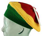 RARE - RASTA Knitted Beret  - Beanie Cap Hat - One Size