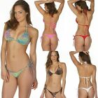 Brazilian Bikini Thong Set Lady String Swimwear Tiny Micro Bottom + Top S M L XL