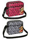 Paul Frank Julius Monkey Shoulder Bag Polka Dot Satchel School Sports Messenger