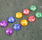 12mm Flower Photo Colorful Rose Handmade Glass Cabochon GD39(5pcs)